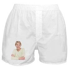 Smiling senior woman Boxer Shorts