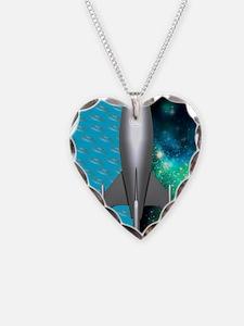 Space exploration, conceptual Necklace Heart Charm