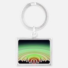 Sound byte, 3D-artwork Landscape Keychain
