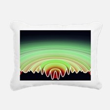 Sound byte, 3D-artwork Rectangular Canvas Pillow