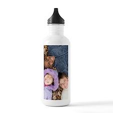 Smiling children lying Water Bottle