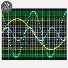 Sound wave, computer artwork Puzzle