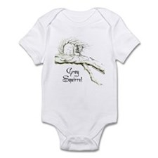 Graphic Gray Squirrel Infant Bodysuit