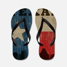 Vintage Texas Skyline Flip Flops