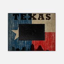 Vintage Texas Skyline Picture Frame