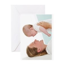 Sister and baby brother Greeting Card