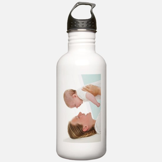 Sister and baby brothe Water Bottle