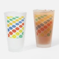 Smiley face stickers Drinking Glass