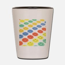 Smiley face stickers Shot Glass