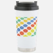 Smiley face stickers Stainless Steel Travel Mug