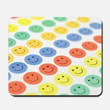 Smiley face stickers Mousepad