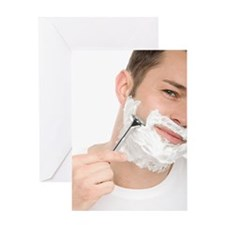 Shaving Greeting Card