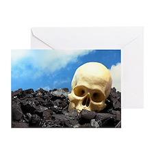 Skull and coal Greeting Card