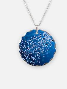Self-replicating nanobots, a Necklace Circle Charm
