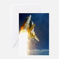 Shuttle mission STS-121 launch, July Greeting Card