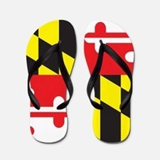 Maryland Flag Flip Flops
