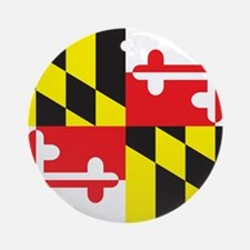 Maryland Flag Round Ornament