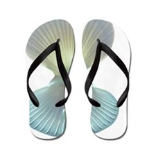Scallop shell and pearl Flip Flops