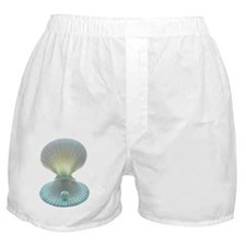Scallop shell and pearl Boxer Shorts