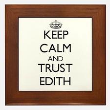 Keep Calm and trust Edith Framed Tile