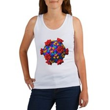 Reovirus particle, molecular mode Women's Tank Top