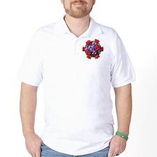 Reovirus particle, molecular model T-Shirt
