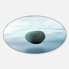 Relaxation, conceptual artwork Sticker (Oval)