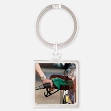 Refuelling car Square Keychain