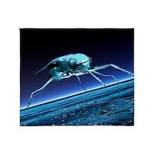 Robotic fly, artwork Throw Blanket