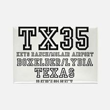 TEXAS - AIRPORT CODES - TX35 - KE Rectangle Magnet