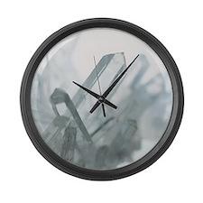 Quartz crystals Large Wall Clock