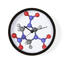 RDX explosive molecule Wall Clock