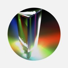 Prism, light spectrum Round Ornament
