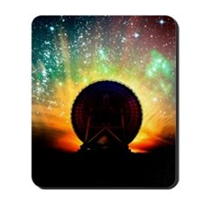 Radio telescope and night sky, artwork Mousepad