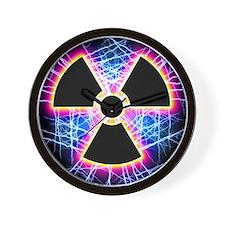 Radiation warning sign Wall Clock