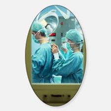 Preparing for surgery Sticker (Oval)