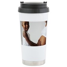 Pregnant woman and son Travel Mug