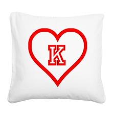 Kappa Sweetheart Square Canvas Pillow