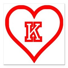 "Kappa Sweetheart Square Car Magnet 3"" x 3"""