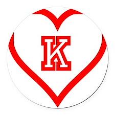 Kappa Sweetheart Round Car Magnet