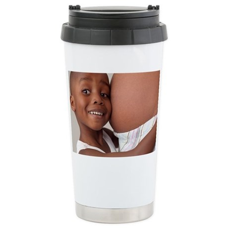 Pregnant woman and son Stainless Steel Travel Mug