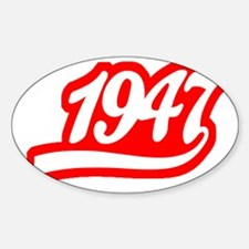 1947 Script Tail Outline Decal