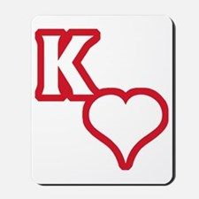 Kappa Sweetheart Outline Mousepad