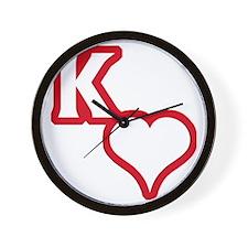 Kappa Sweetheart Outline Wall Clock