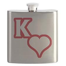 Kappa Sweetheart Outline Flask