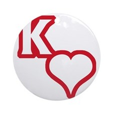 Kappa Sweetheart Outline Round Ornament