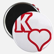 Kappa Sweetheart Outline Magnet