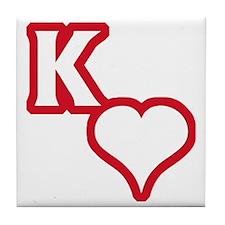 Kappa Sweetheart Outline Tile Coaster