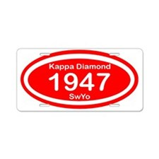 Kappa Diamond Oval Aluminum License Plate