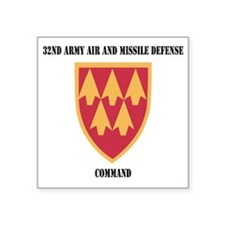"SSI - 32nd Army Air and Mis Square Sticker 3"" x 3"""